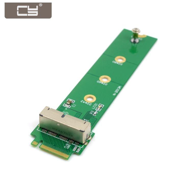 10 unids/lote PCI Express PCI-E 4X M.2 NGFF m-key to 2013 2014 2015 Mac book SSD convertir tarjeta para A1493 A1502 A1465 A1466