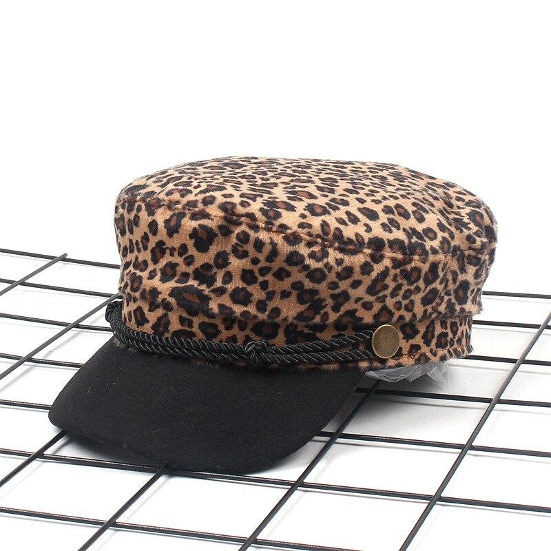 Шапка берет Женская с леопардовым принтом трикотажный в стиле древних путей