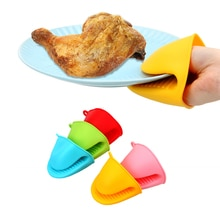Anti-slip Pot Bowel Holder Clip Cooking BBQ Grill Glove Insulation Kitchen Oven Mitt Silicone Heat Resistant Gloves Clips