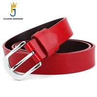 fajarina good quality cowhide ladies 100 cow skin leather female model belt retro clasp styles belts for women new n17fj729