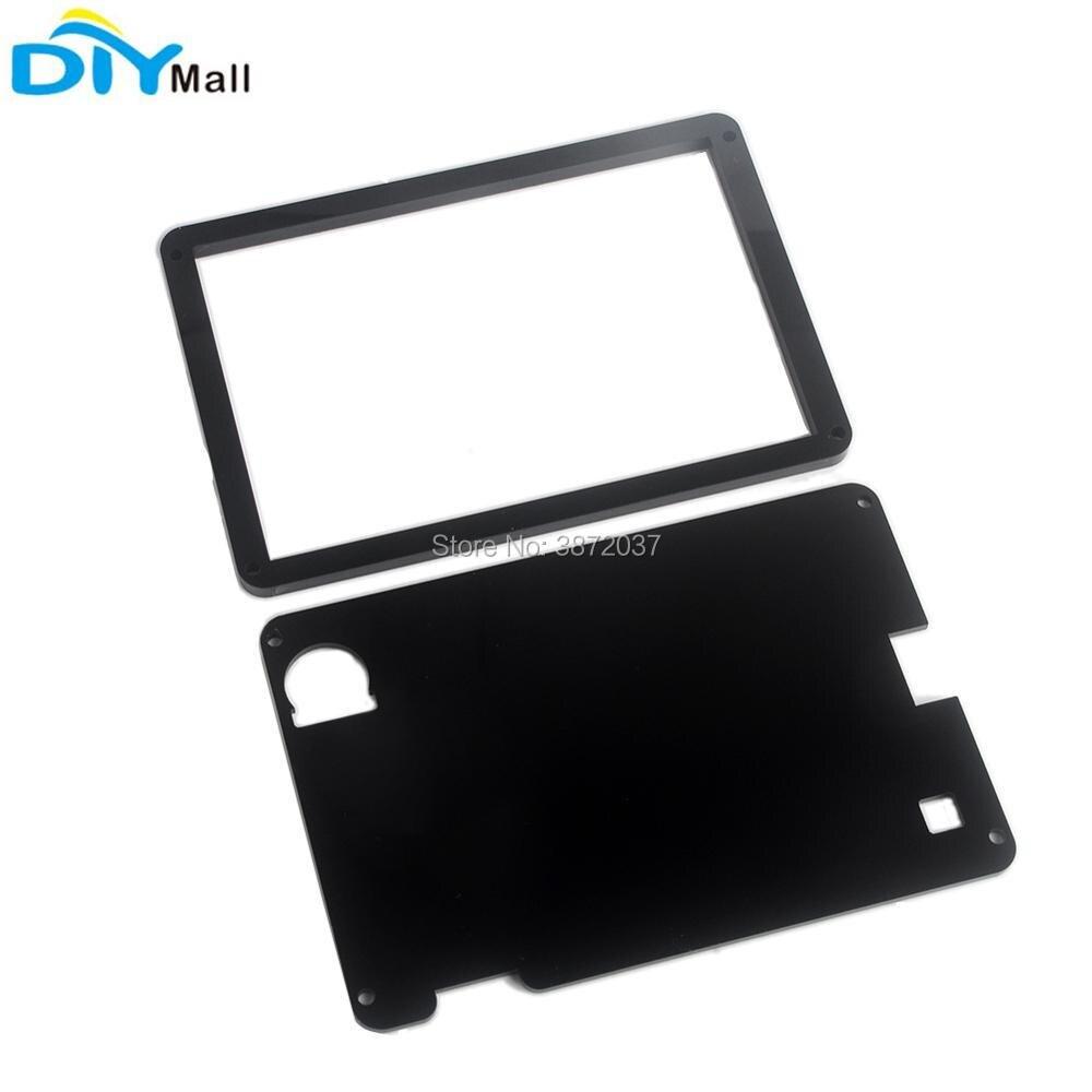 "Carcasa de acrílico negro para pantalla mejorada Nextion 5,0 ""HMI Display Module"