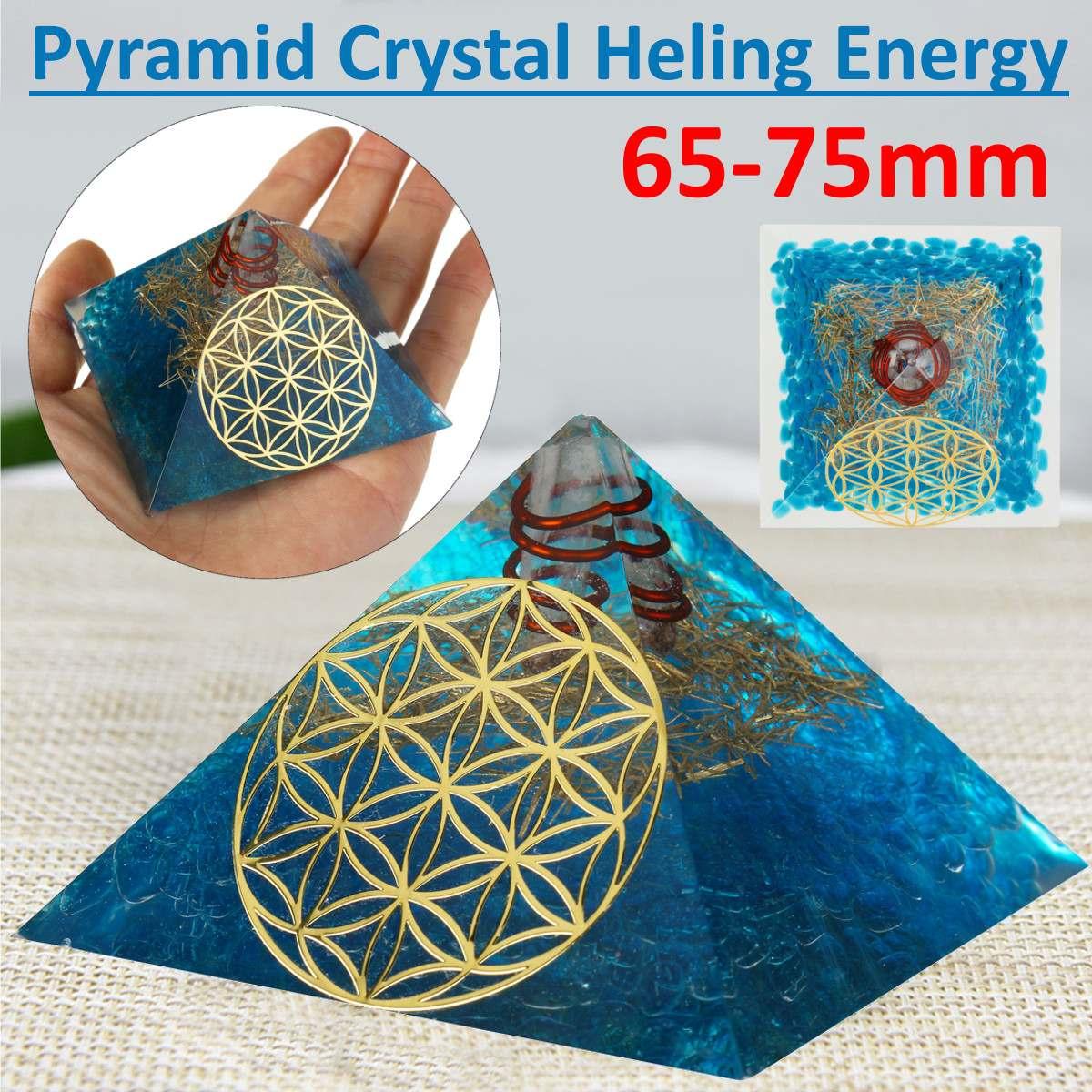 65-75mm Natural Pirámide de cuarzo de cristal Feng Shui piedra Chakra ornamento curación de cristal Home desmagnetización Mineral piedra de decoración nuevo