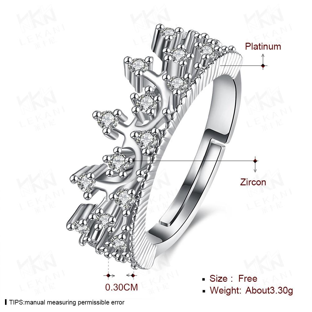 18k ouro branco princesa rainha coroa anéis de noivado claro cz para bizuteria bijuteria coroa anéis de jóias de pedra preciosa