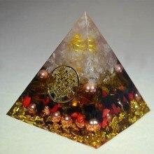 Orgone convertisseur dénergie Orgonite pyramide Aura cristal Chakra apaiser lâme résine décorative artisanat bijoux accumulateur cadeau
