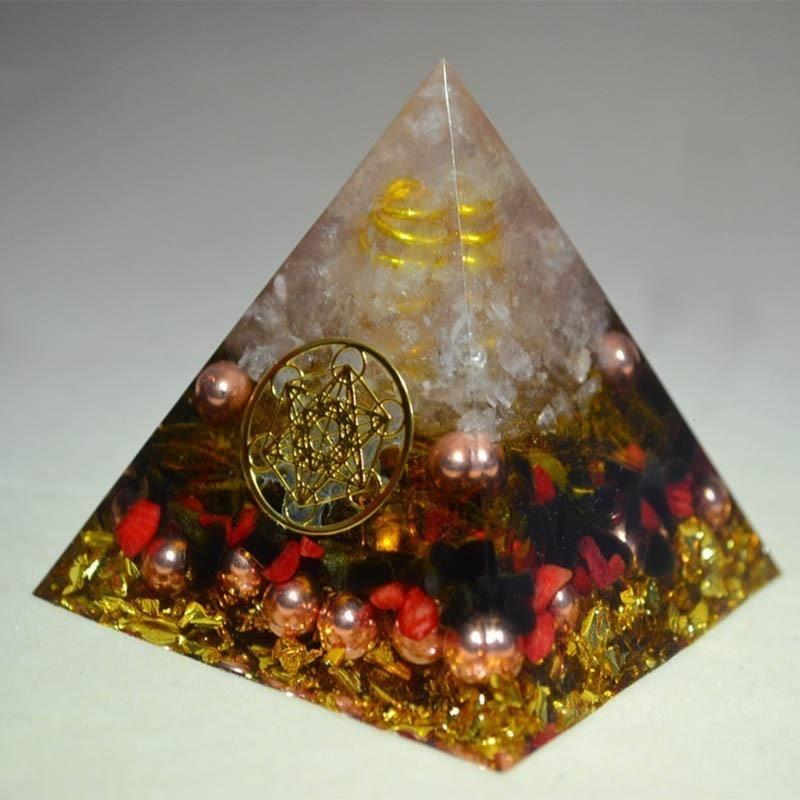 Orgone conversor de energia orgonita aura, cristal chakra soothe soul resina decorativa artesanato jóias acumulador presente