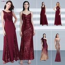 Robe de soiree longue nunca muito barato pequena sereia borgonha vermelho sexy vestidos de noite lantejoulas brilho plus size vestidos de festa