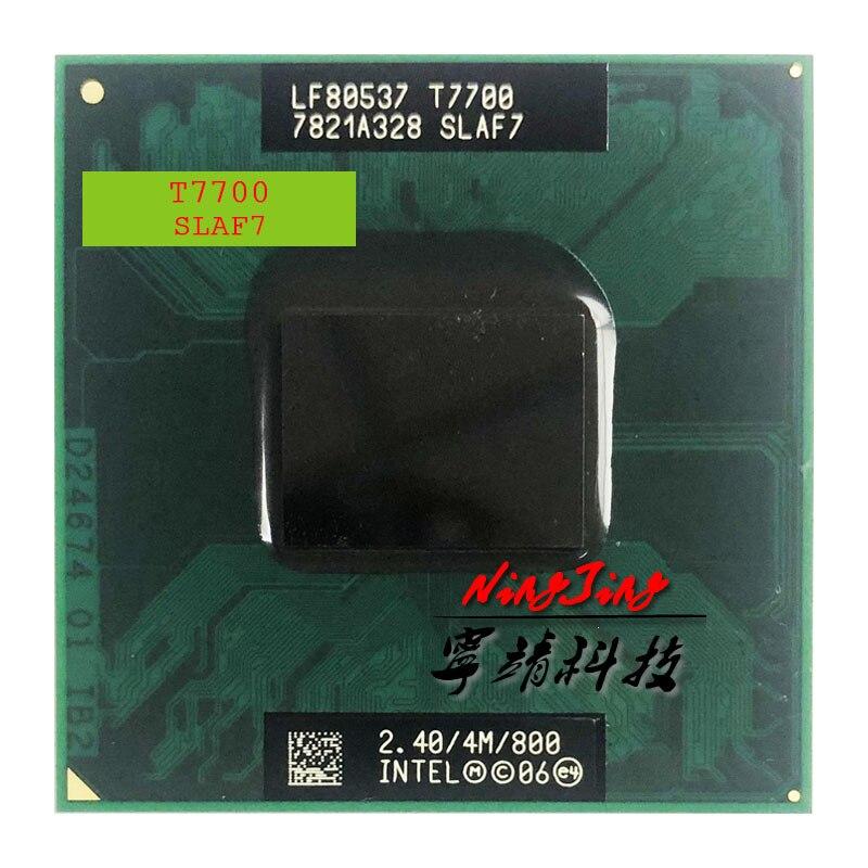 Intel Core 2 Duo T7700 SLA43 SLAF7 2,4 GHz, Dual-Core, doble-hilo CPU, procesador 4M 35W Socket P
