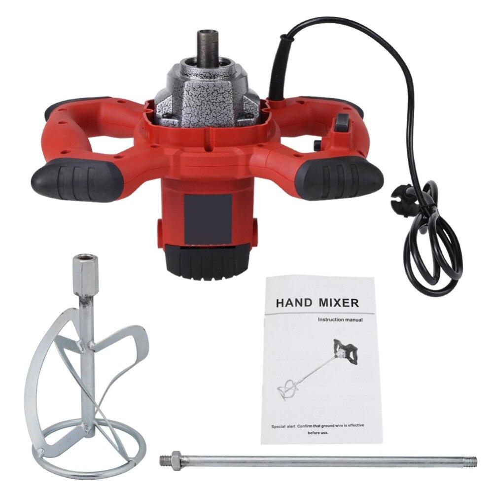 1500W Mixer AC 220V Handheld 6-Rate Elektrische Mixer für Rühren Mörtel Farbe Zement Mörtel für Mischen feed Lebensmittel Farbe Zement