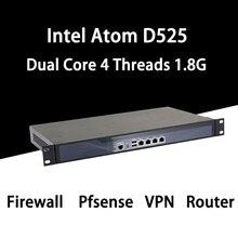 Firewall Mikrotik Pfsense Vpn Netwerk Security Appliance Router Pc Intel Atom D525,[Hunsn SA03R],(4LAN/2USB2.0/1COM/1VGA/Fan)