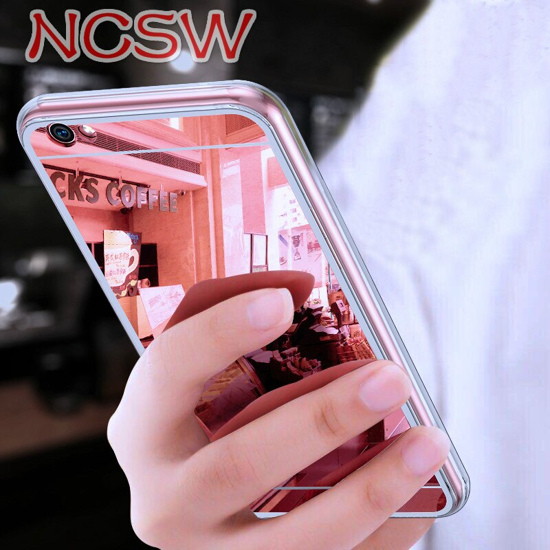 Soft TPU Case For Xiaomi MI 8 Lite F1 A2 Lite A1 6X 5X Redmi 5 Plus 4X S2 6 6A Note 8 7 6 5 Pro 5A Prime Plating Mirror Case