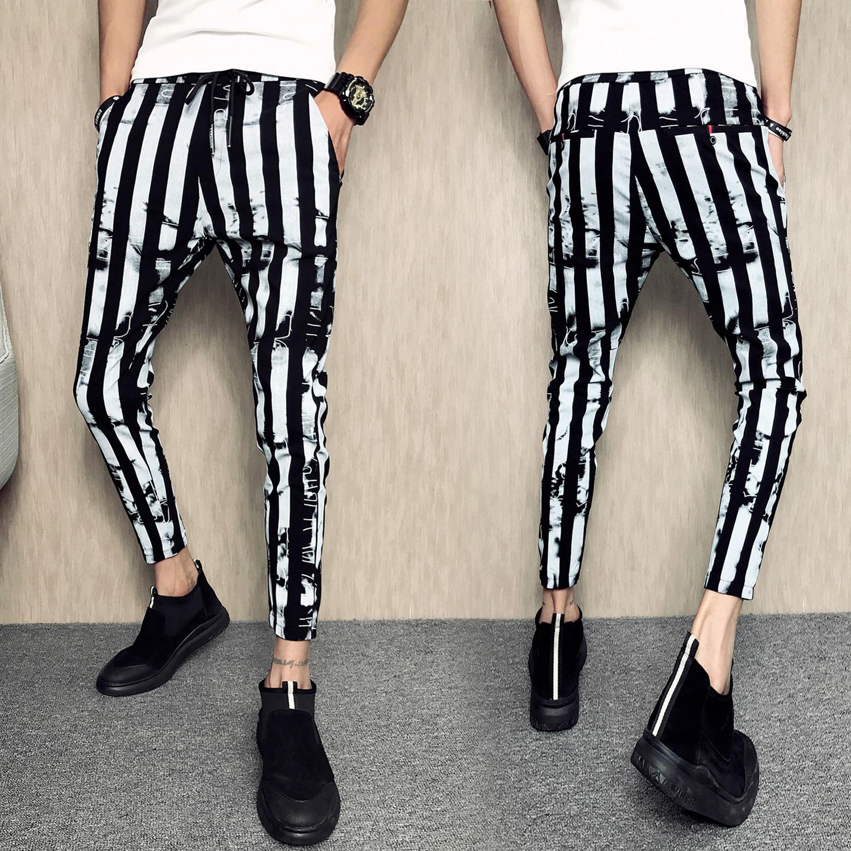 Streetwear Men Casual Sport Pants Slim Fit Trousers Joggers Stripe Sweatpants Men Fashion Elastic Waist Pants Hip Hop Pant Homme