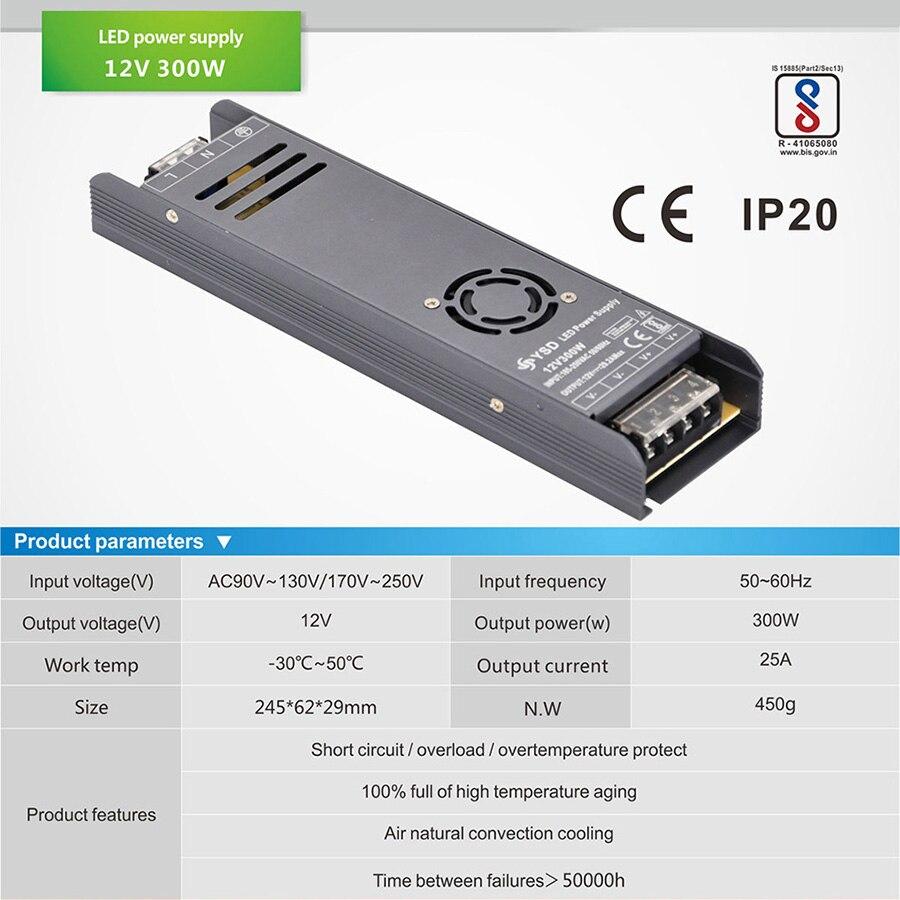 AC 100 V-250 V к DC 12V 25A 300W 24V 12.5A 29.1A 350W 14.5A 400W светодиодный трансформатор освещения