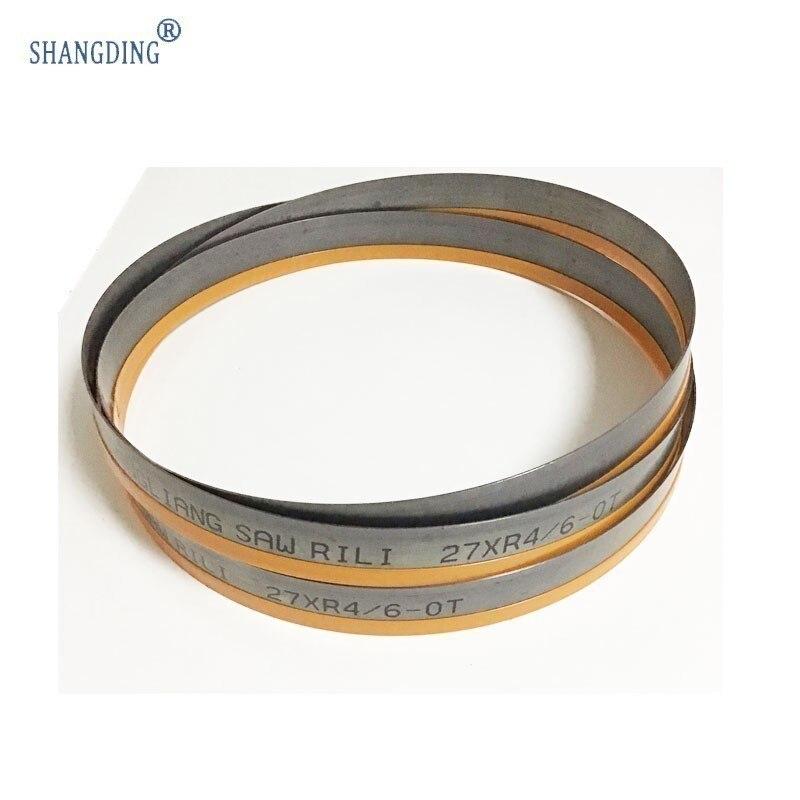 Buena calidad durable2450 * 27*0,9*4/6 punta M42 TPI bi bandsiws de metal para Perfil de tubería de acero inoxidable HSS