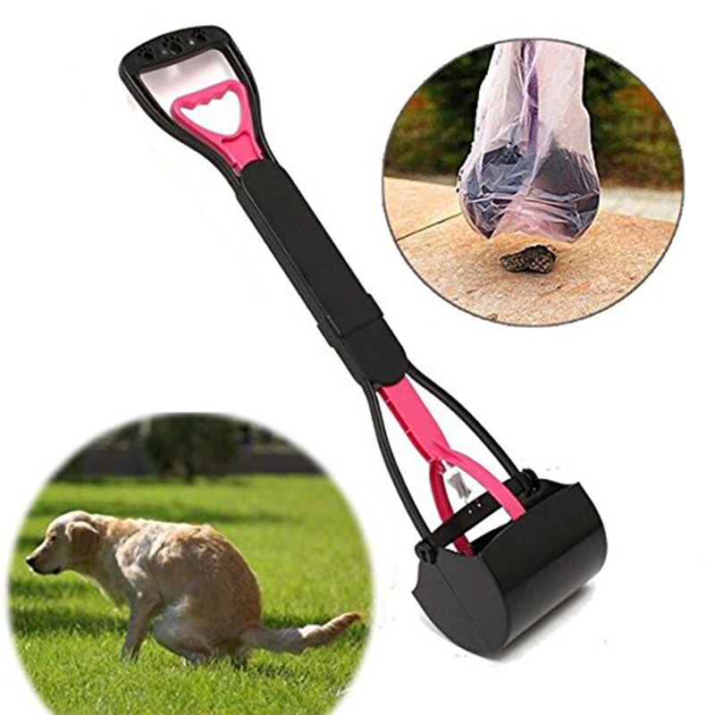 1 Uds 60cm mascota perro Pooper scopper mango largo utensilio para recoger excrementos plegable al aire libre Pick Up limpiador animales eliminación de residuos suministros para mascotas