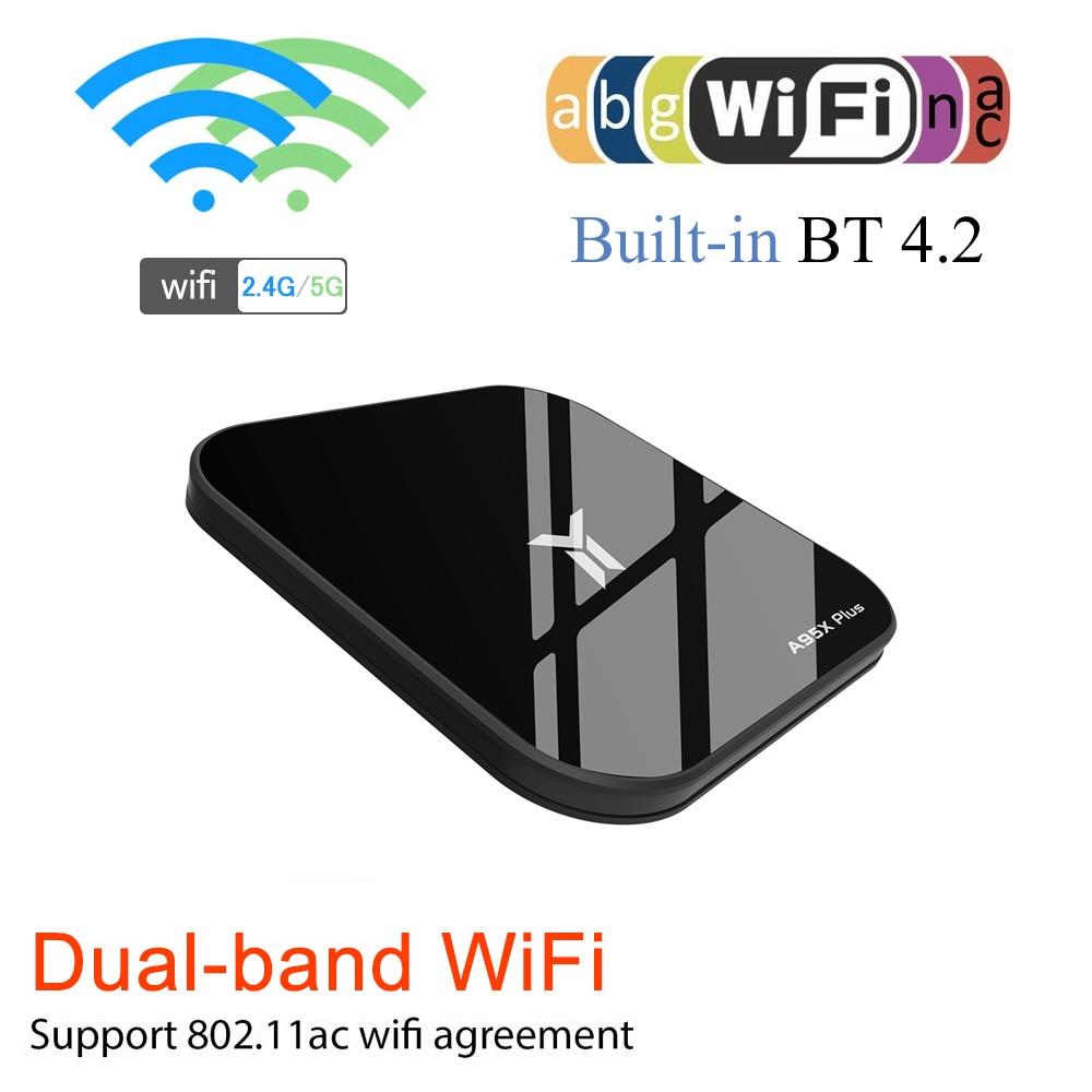A95X PLUS Smart TV BOX Android 8.1 TV Box HD Media Player 4GB32GB TV BOX Quad-core S905Y2 DDR4 4K H.265 2.4G5G WIFI USB 3.0