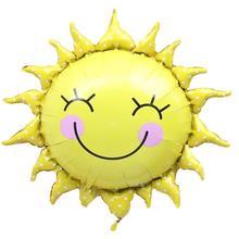 Yüksek Kaliteli Karikatür Parti Balonları Güneş Desen Parti Balonlar Şişme Hava Topları Doğum Günü Partisi Süsler Ev dekor öğeleri