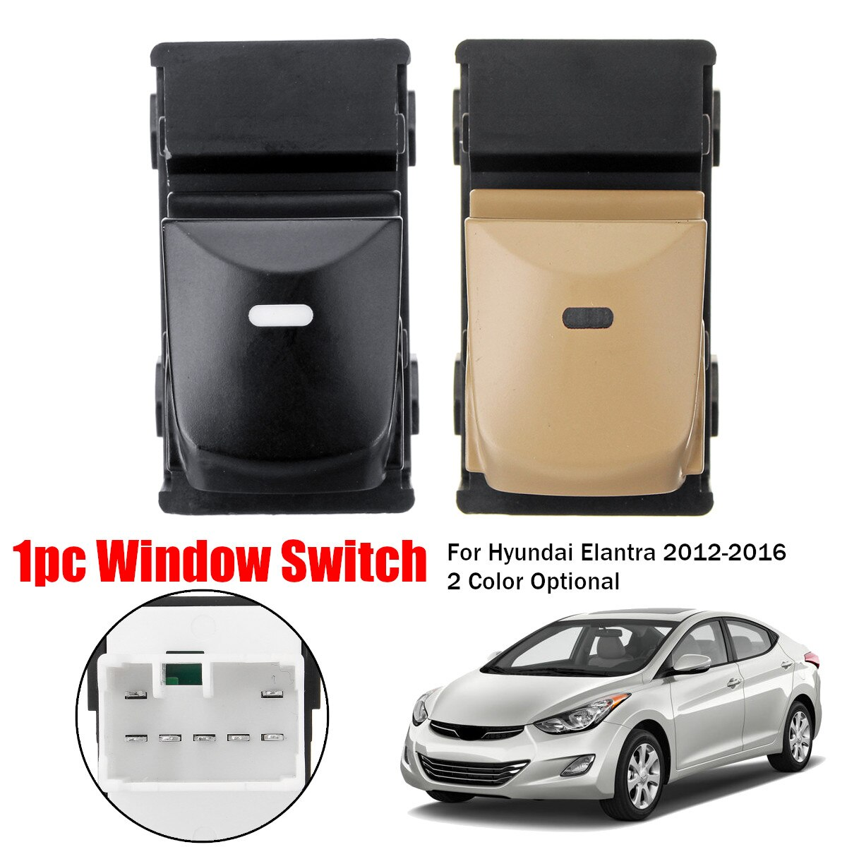 Interruptor de Control eléctrico de la ventana del coche 93570-4V000 Hyundai para Hyundai 2012 2013 2014 2015 2016 Elantra