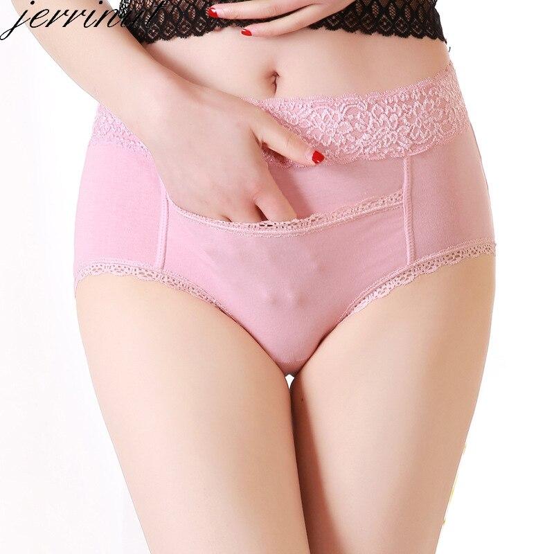 Jerrinut Sexy ropa interior de palacio de calentamiento fisiológico impermeable bolsillos algodón sin costuras Panty de talla grande XL XXL XXXL pantalones XXXXL