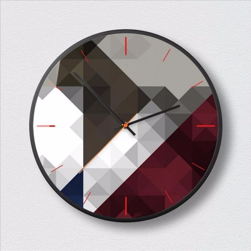 New 3D Big Wall Clock Geometric Fashion Wall Clock Modern Design Minimalist Nordic Clocks Decorative Wall Clock Modern Design