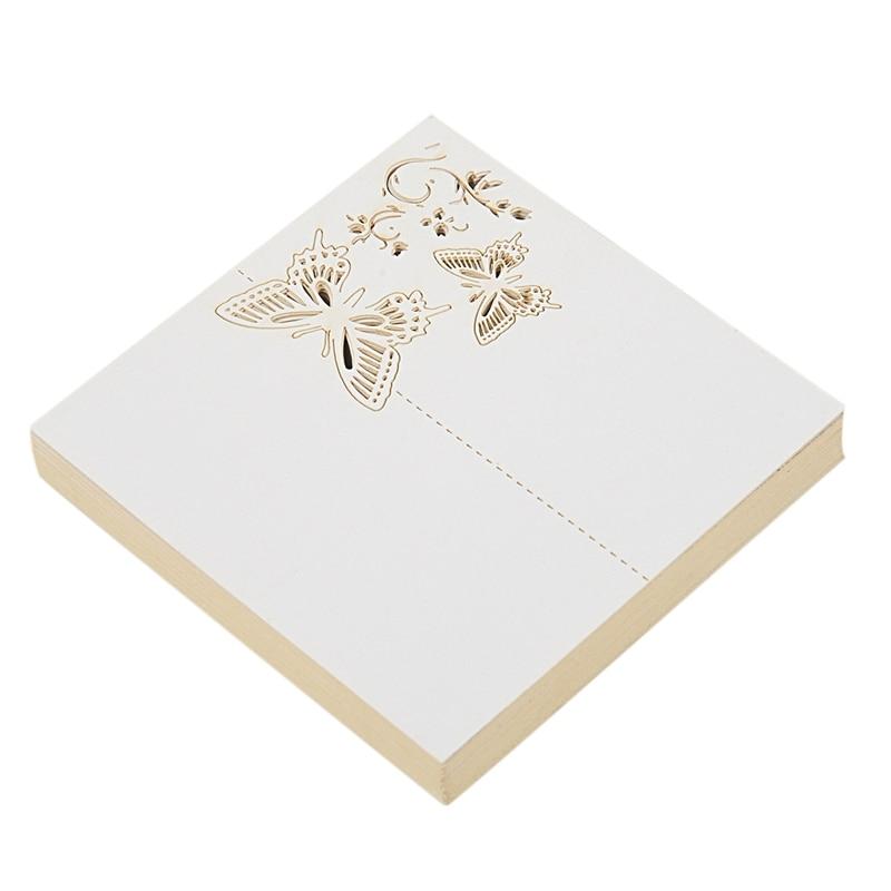 50 Uds. Tarjetero mariposa de papel nombre mesa para cartas número para boda evento Fiesta