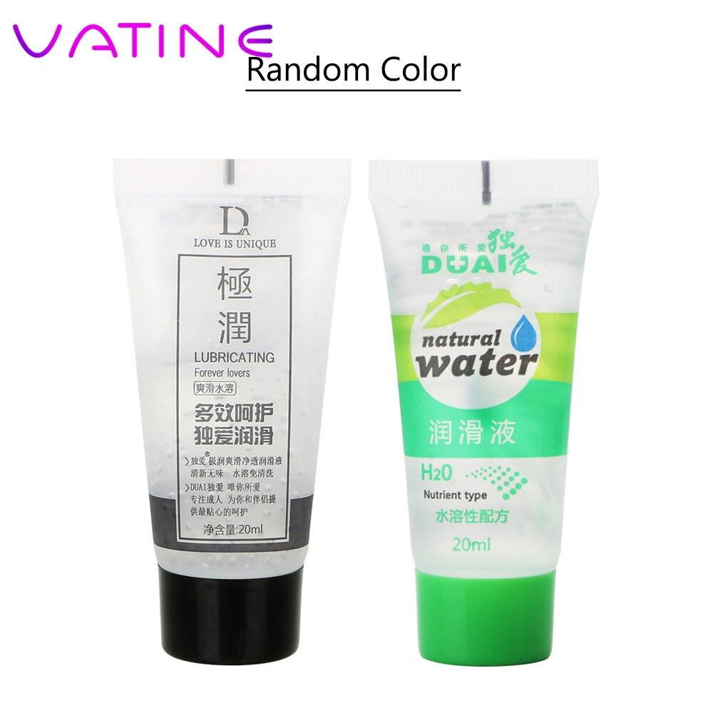 Смазка для анального секса ватина, 1 шт., случайный цвет, 20 мл, масло для массажа, смазка для воды и вагины