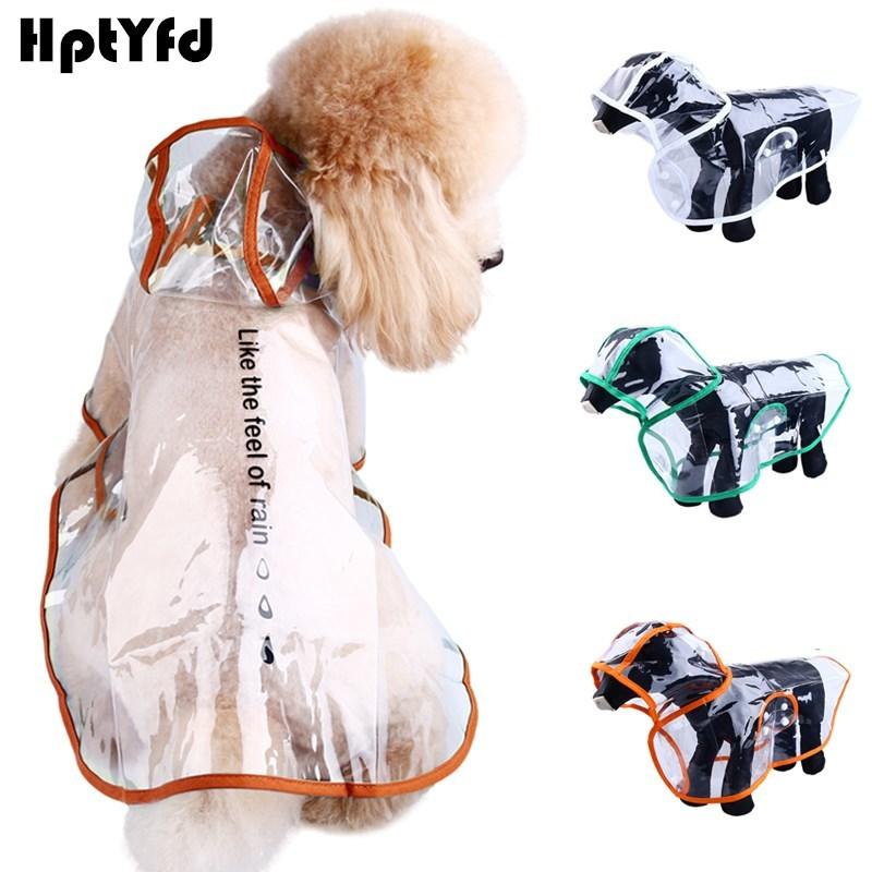XS-XXL дождевик для собак и кошек, водонепроницаемая прозрачная одежда для щенков, одежда для маленьких собак, дождевик, куртка