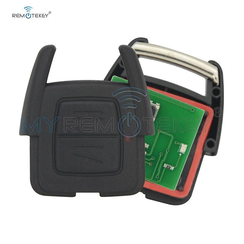 Remtekey botón 2 433Mhz 93176615 llave de control remoto fob para Opel Vauxhall Holden Astra G Zafira A 2000, 2001, 2002, 2003, 2004