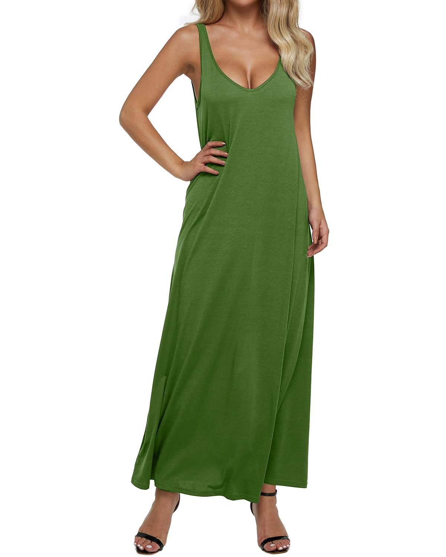 Vestido de tanque feminino verão sexy com decote em v sem costas sólido sem mangas festa bodycon longo maxi vestido casual solto vestidos plus size 2xl