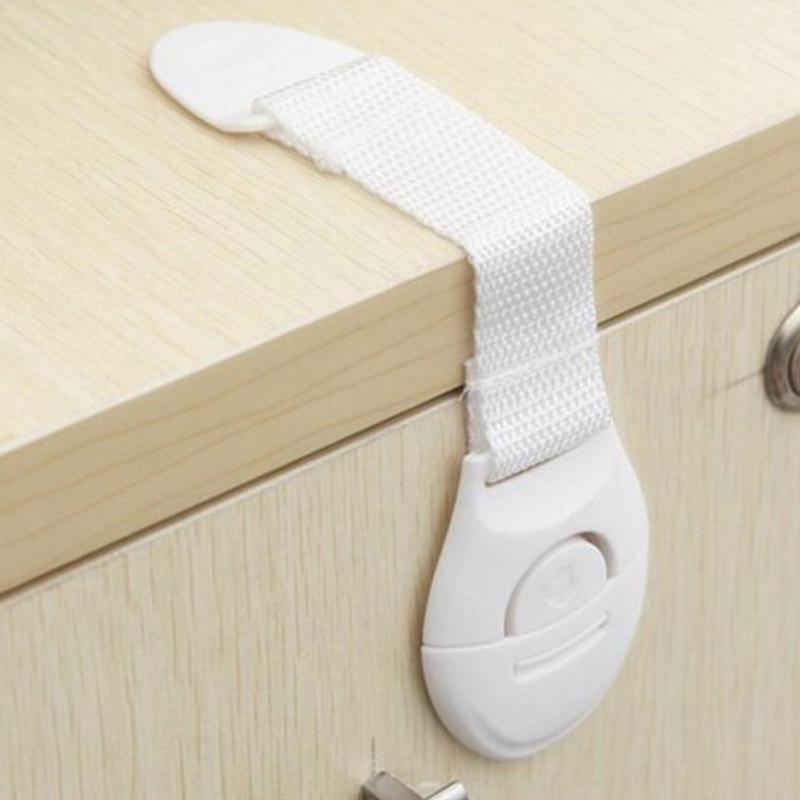 5 uds/10 Uds. Cerraduras de seguridad para niños bebés cerraduras de plástico para Cuidado de Niños cerradura para armario cajón cerradura de seguridad de puertas