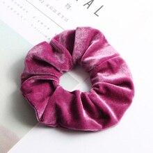 Soft Velvet Hair Scrunchie Elastic Hair Bands Women Girls Ponytail Donut Grip Loop Holder Stretchy Hair Bands Hair Accessories