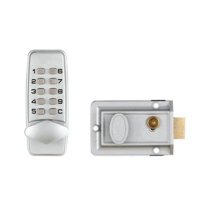 قفل الباب مقاوم للماء الميكانيكية الرقمية قفل باب بكود نقر دفع زر لوحة المفاتيح بدون مفتاح حريق قفل لباب 30-60 مللي متر