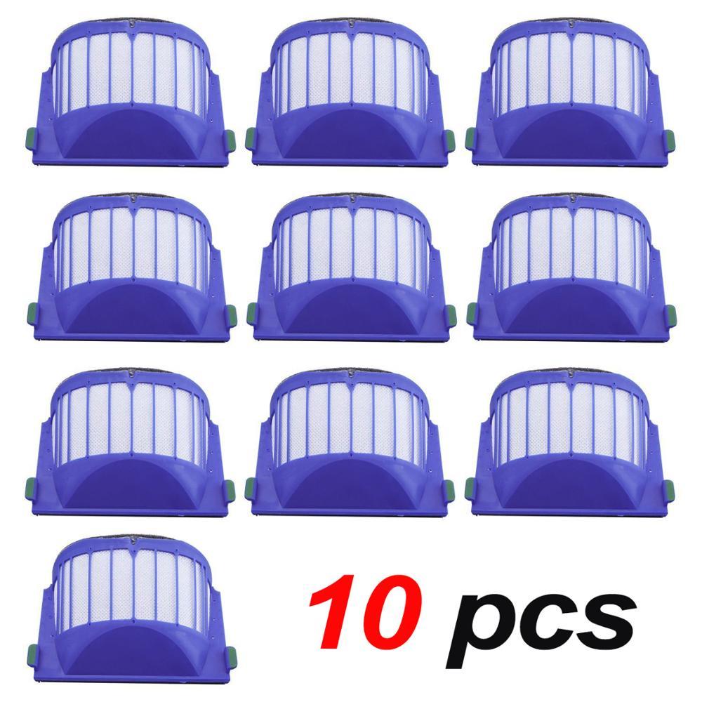 10 Pack Hepa-Filter Staubsauger Kit Für iRobot Roomba 500, 600 serie (550 560 595 585 564 650 620 675 690 680 660 650)