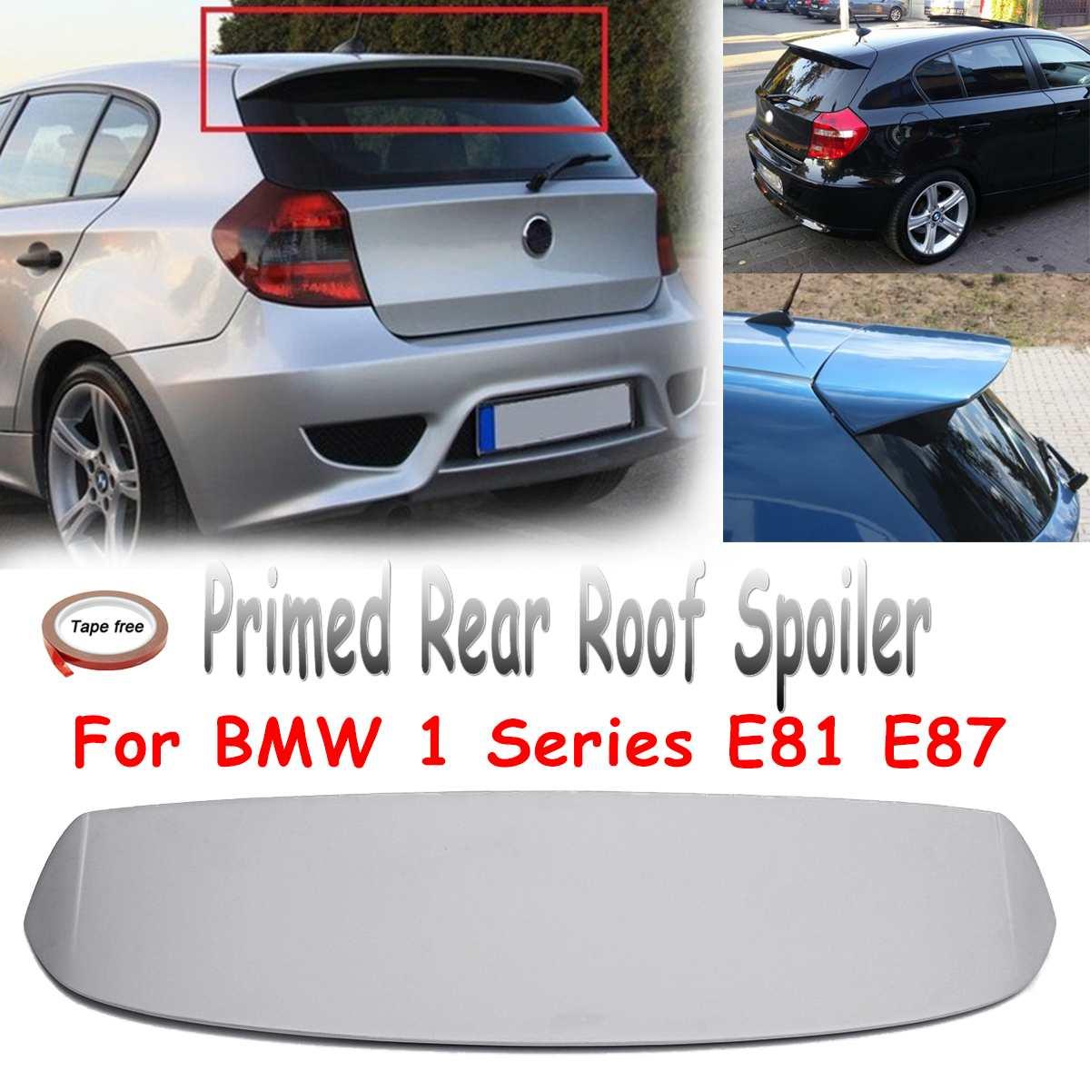 Alerón trasero sin pintar, alerón trasero para techo de maletero, alerón de fibra de vidrio apto para BMW serie 1 E81 E87 FRP