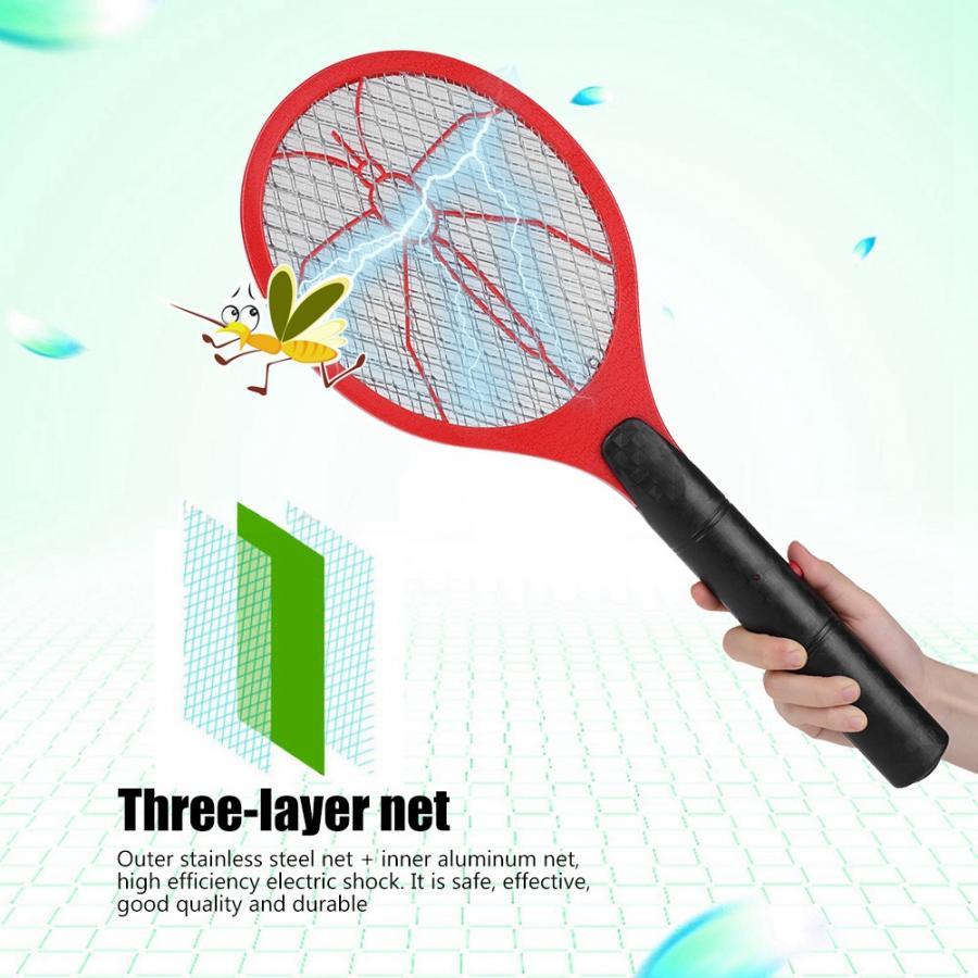 ¡OFERTA de verano! batería eléctrica sin cable matamosquitos exterminador de insectos raqueta exterminadores de insectos para el hogar