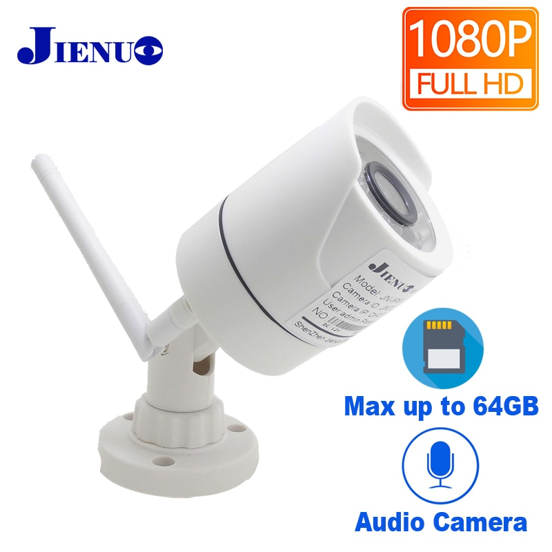 JIENUO-كاميرا أمان لاسلكية للأماكن الخارجية, كاميرا مراقبة 1080P واي فاي ip Cctv لاسلكية للأماكن الخارجية مقاومة للماء بدقة 2 ميجا بكسل عالية الوضوح ك...