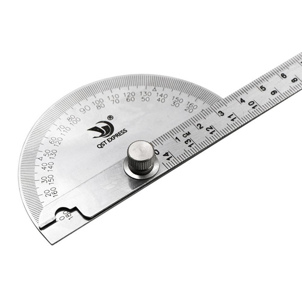 Medidor de ángulo transportador de acero inoxidable 180 grado semicircular