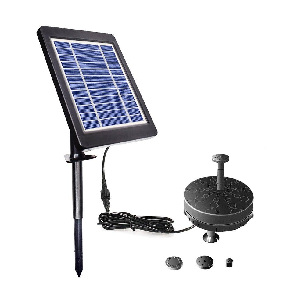 مضخة مياه شمسية 6 فولت ، نافورة لحمام الطيور ، بطارية مدمجة ، LED ، بركة بركة