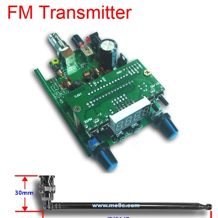 Dc 12 فولت 88-108 ميجا هرتز 0.5 واط BH1415F FM راديو PLL ستيريو FM الارسال شاشة ديجيتال LED وحدة + 75 سنتيمتر Q9 هوائي الإشارات الصوتية