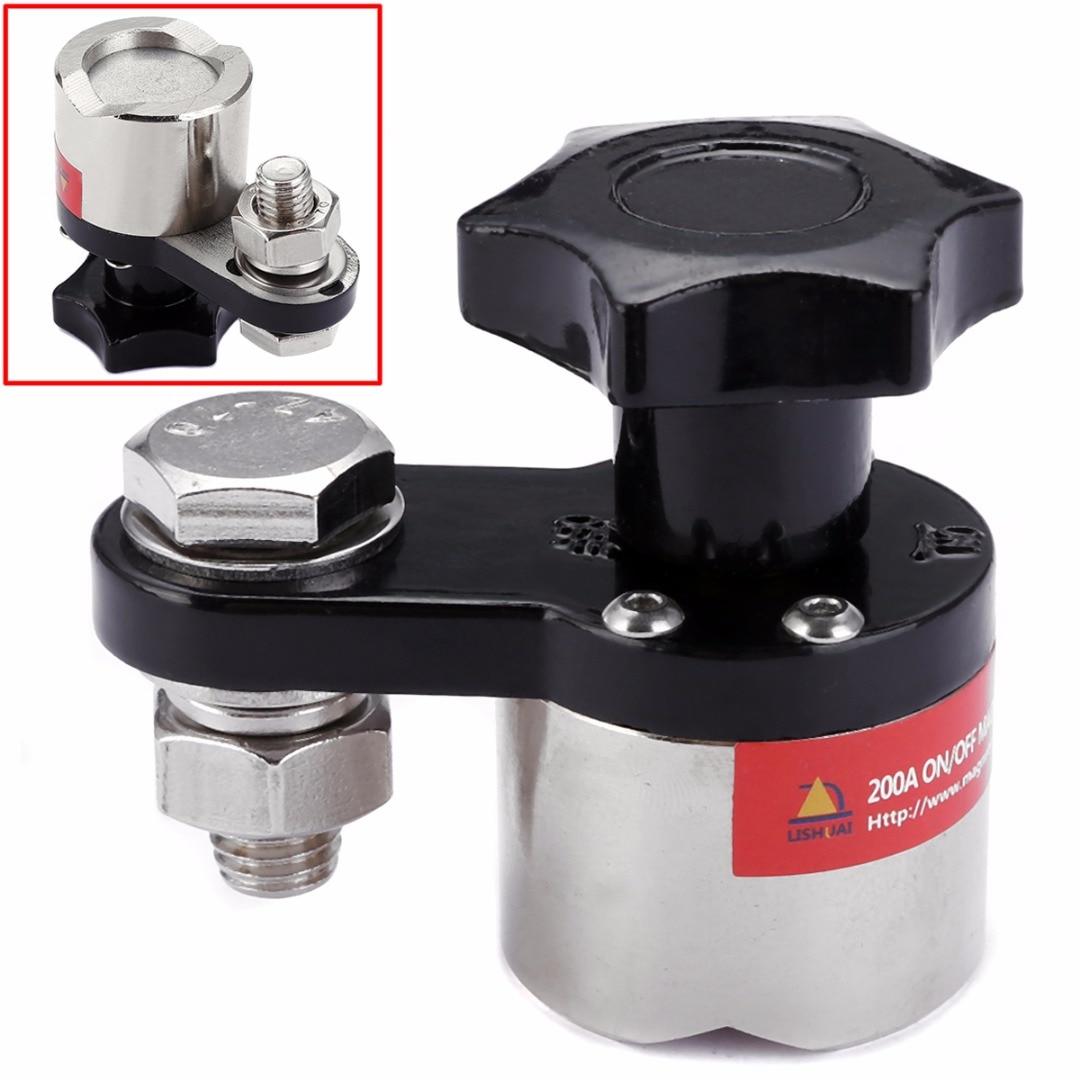1 unidad de abrazadera de tierra de soldadura magnética 200A 30kg de fuerza pequeñas abrazaderas para fabricación y procesamiento de Metal M6H2 64*36*60mm
