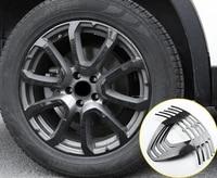 20pcs for maserati levante 4 tires carbon fibre pattern hub patch decorative frame sticker