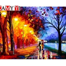 MapleGrove murale pour mi-nuit   5D, broderie de diamant, mosaïque au point de croix, décoration de maison, peinture en diamant LXJ