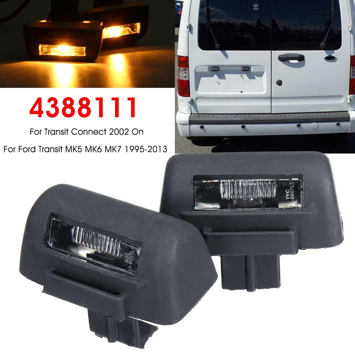 1 Pair Car Tail Rear Back License Plate Light Lamp For Ford Transit MK5 MK6 MK7 4388111