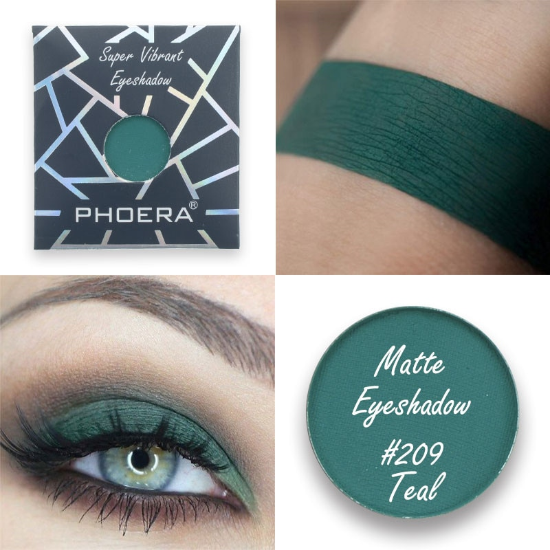 Естественные матовые тени для век PHOERA, 12 цветов, монохромная Водонепроницаемая мини палитра теней для век, макияж, Косметика для макияжа TSLM1