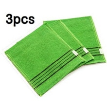 3Pcs Korean Asian Exfoliating Bath Washcloth Body Scrub Shower Wash Cloths Dead Skin Clean Wash Towe