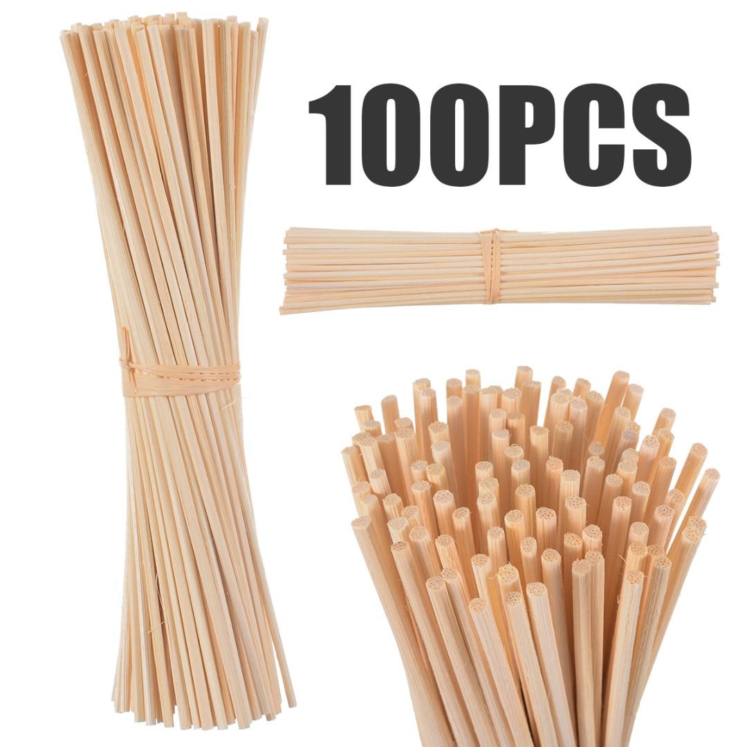 30Pcs/100Pcs Natural Reed Fragrance Aroma Oil Diffuser Rattan Sticks Perfume volatiles For Home Decoration недорого