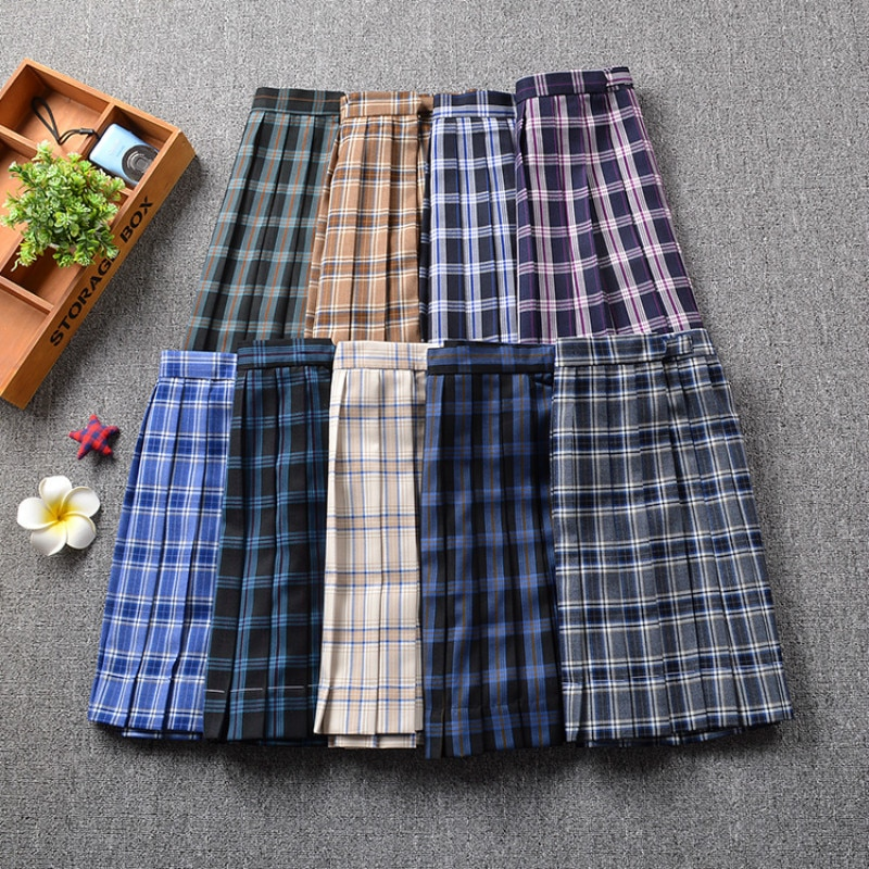 2019 New Style Plaid Uniform Pleated Skirt Orthodox JK Uniform Skirt Student High Waist Plaid Japanese Pleated Skirt japanese collection jk skirt pleated skirt lattice skirt cute pleated half body women s short jk uniform sweet lolita dress