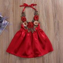 Pudcoco-robe de soirée 3d pour petites filles   Tenue de soleil élégante, motif floral, pour enfants de 0-5ans, 2018