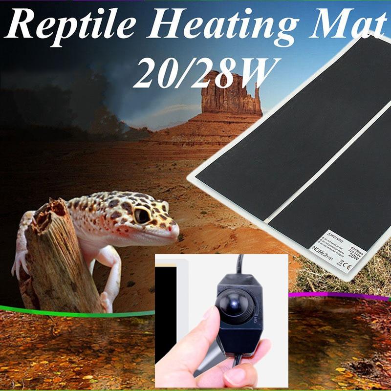 Almohadilla térmica para escalada de 5-45 W, almohadilla térmica para mascotas, regulador ajustable de temperatura, alfombrilla para incubadora, herramientas, almohadilla térmica para Reptiles y terrarios
