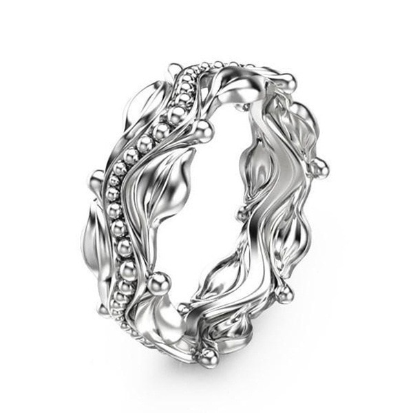 Flower Creative Floating Sculpture Cocktail Ring S925 Silver Color Sterling Bizuteria Anillos De Bague Etoile Diamantes Rings