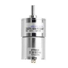 1pc Durable ZGB37RG 24V 40rpm DC Gear Motor Reduction Ratio 1111 3.9kg.cm Reduction Motor For DIY Or Mechanical Work